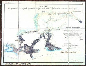 Карта следования войск действующаго отряда за рекою Кубанью в 1834, 1835 и 1836 годах