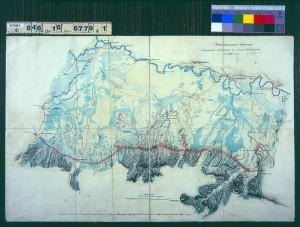 Пояснительная карточка военных действий в земле шапсугов в 1860-м году. РГВИА, Ф. 846. Оп. 16. Д. 6779. Л. 1