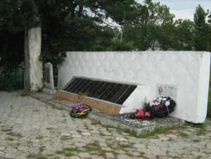 Захоронение в  центре ст. Калужской